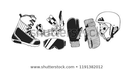 spor · siluetleri · el · eylem · insan · eli · biçim - stok fotoğraf © netkov1