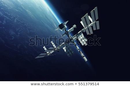 国際 · スペース · 駅 · 銀河 · スパイラル · 地球 - ストックフォト © NASA_images