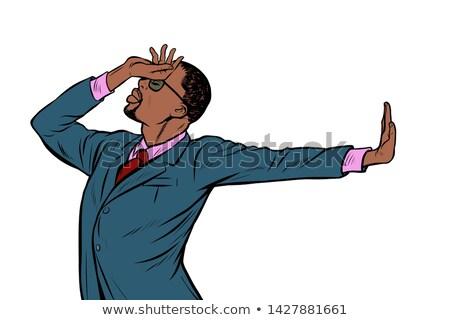 Africano americano empresário vergonha negação gesto não Foto stock © studiostoks