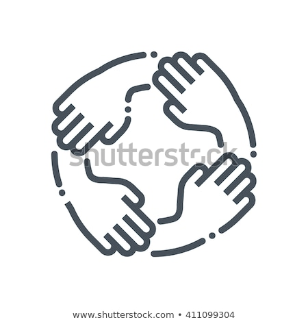 Unity And Teamwork Icon Stock photo © angelp