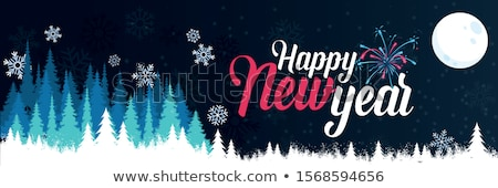 mooie · gelukkig · nieuwjaar · kerstmis · banner · vector · realistisch - stockfoto © pikepicture