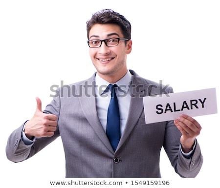Giovani imprenditore stipendio ufficio Foto d'archivio © Elnur