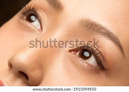 Close-up of lower part of face of young healthy female with toothy smile Stock photo © pressmaster