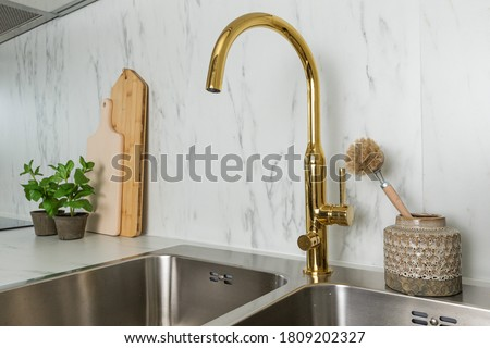 Primo piano sink texture bagno acciaio drop Foto d'archivio © nomadsoul1