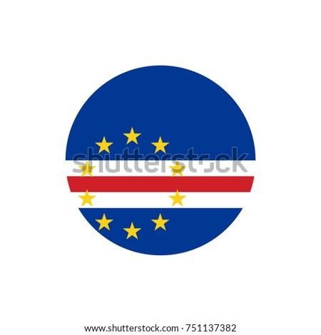 Cape Verde flag, vector illustration on a white background Stock photo © butenkow