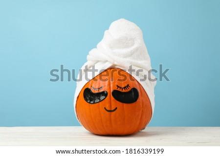 Halloween blue pumpkin face Stock photo © tilo