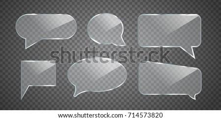 Glass Speech Bubbles  Stock photo © -TAlex-