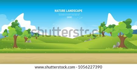 Summer lanscape Stock photo © milsiart