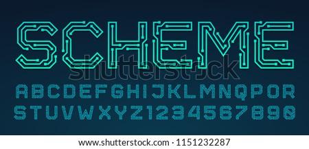 Vector doopvont Blauw brieven alfabet controleren Stockfoto © orson