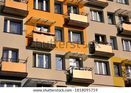 Edifício varanda céu cidade estrelas Foto stock © zzve