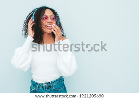 Stock photo: wall of sound sexy