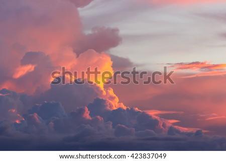 Dark clouds at sunset Stock photo © w20er