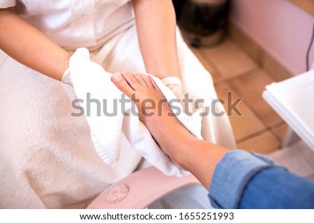 Yıkama ayaklar salon güzellik hizmet Stok fotoğraf © wavebreak_media