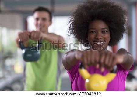 筋肉の 男 ケトルベル crossfitの ジム ストックフォト © wavebreak_media
