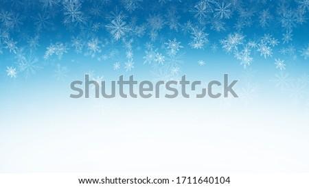 Snowflakes on a blue background Stock photo © PokerMan