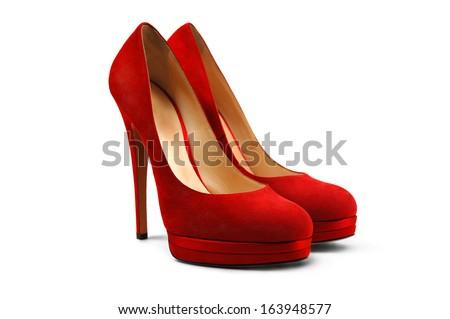 An elegant red high-heeled shoe Stock photo © bartekwardziak