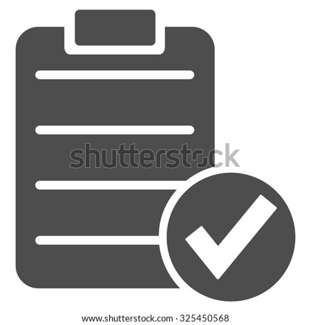 Checklist flat gray color rounded vector icon stock photo © ahasoft