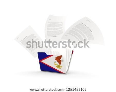 Dobrador bandeira Samoa arquivos isolado branco Foto stock © MikhailMishchenko