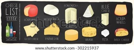 チーズ · デザート · 黒 · まな板 · 先頭 - ストックフォト © grafvision