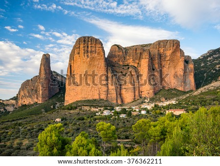 Mountain in Aragon, Spain Stock photo © borisb17