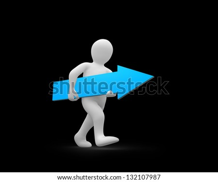 sétál · irányítás · férfi · aszfalt · út · nyíl - stock fotó © wavebreak_media