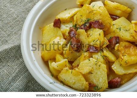 Rustico home patatine colore grasso Foto d'archivio © zkruger