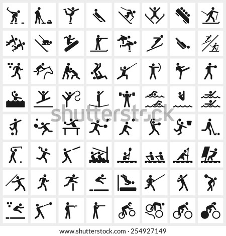 Sport icon for hurdles running Stock photo © bluering
