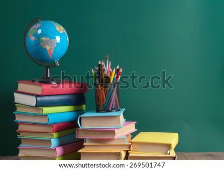 school · boord · woord · bijwerken · houten · tafel · business - stockfoto © fuzzbones0