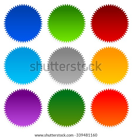Sales flat red and white colors rounded vector icon Stock photo © ahasoft