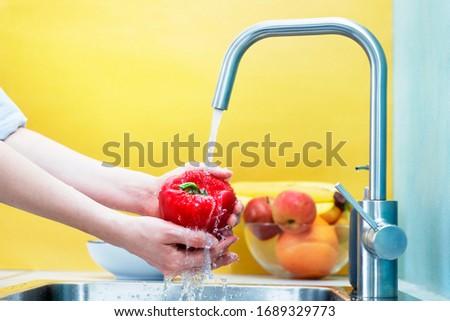 Kırmızı biber beyaz gıda sebze taze Stok fotoğraf © Digifoodstock