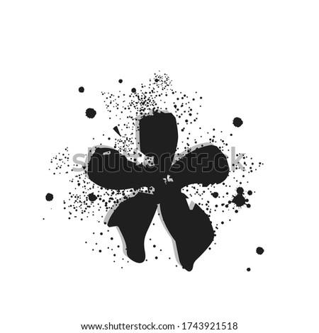 graffiti spray leaking star in black over white Stock photo © Melvin07