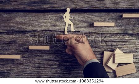 Negócio apoiar gestão metáfora pessoa dentro Foto stock © Lightsource