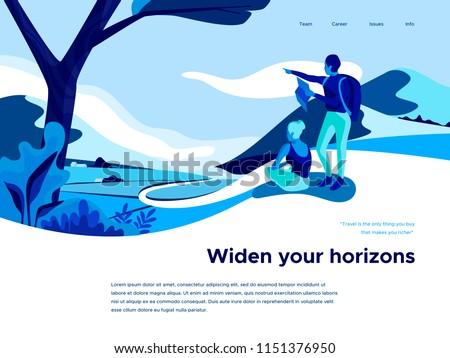 Extreme tourism concept landing page. Stock photo © RAStudio