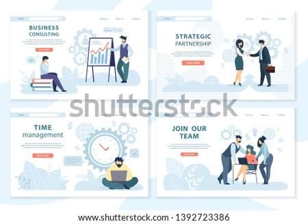 Strategic Partnership Join Our Team Website Set Stock photo © robuart