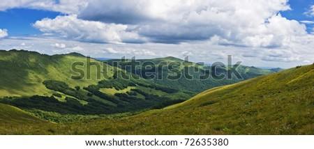 Panoramic Green Mountain Bieszczady Foto stock © pixelman