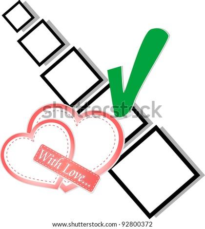 Valentine Day Or Wedding - Check List Symbol Stock fotó © fotoscool