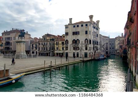 Küçük renkli Venedik İtalya su pompa Stok fotoğraf © rglinsky77