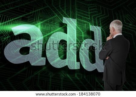 add against green and black circuit board stock photo © wavebreak_media
