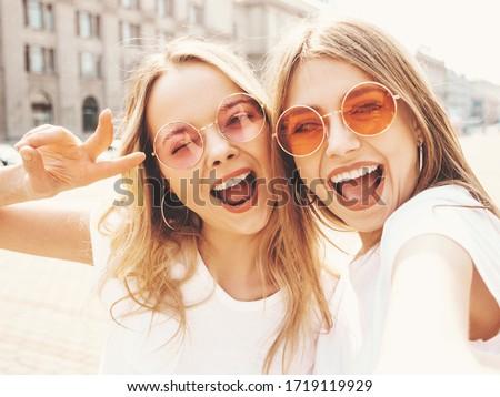 Portre iki çekici kadın sihir makyaj Stok fotoğraf © NeonShot