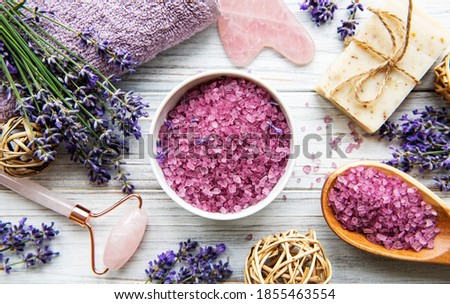 Bowl of salt on the wooden background Stock photo © Alex9500