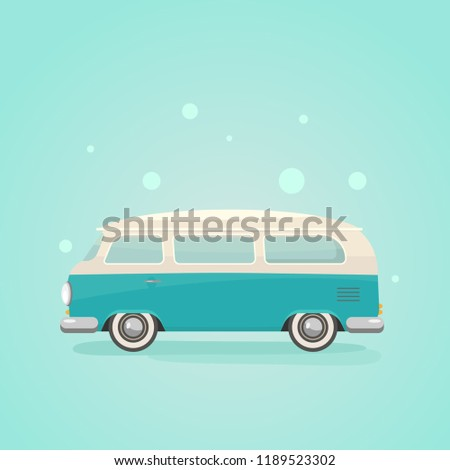 Car Transport for Journey Vector Illustration Stock photo © robuart