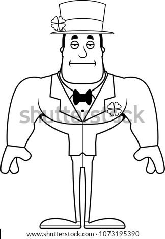 Cartoon Bored Irish Man Stock photo © cthoman