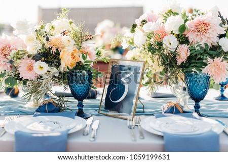 Luxo moda casamento decoração restaurante vela Foto stock © ruslanshramko