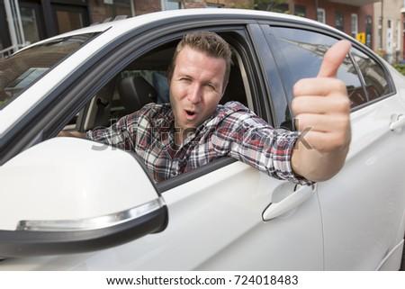Güzel erkekler marka yeni araç iş araba Stok fotoğraf © Lopolo