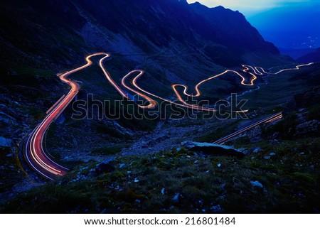 transfagarasan winding road stock photo © grafvision