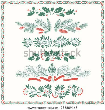 いい クリスマス 装飾 国境 ストックフォト © cosma