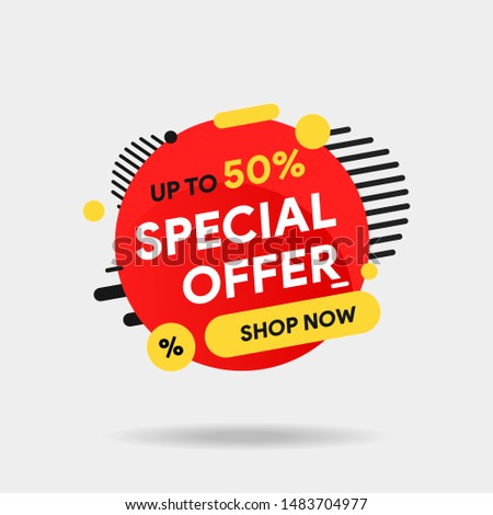 Stockfoto: Promotie · advertentie · winkel · sticker · vector