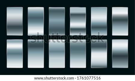 Staal zilver gradiënten ingesteld mat Stockfoto © SArts