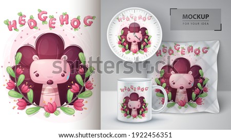 Cute blad bos poster vector eps Stockfoto © rwgusev