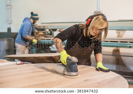 feminino · carpinteiro · mulher · menina · edifício · madeira - foto stock © photography33